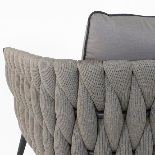 Bianca Rope Club Chair Closeup