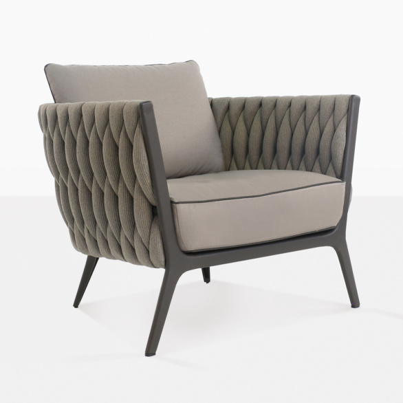 Bianca Outdoor Rope Club Chair Patio Lounge Furniture