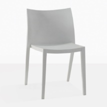 Box Grey Plastic Dining Chair