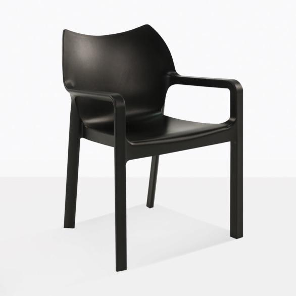 Cape Black Plastic Dining Chair
