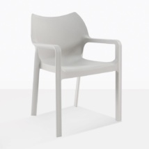 Cape Grey Plastic Cafe Dining Chair