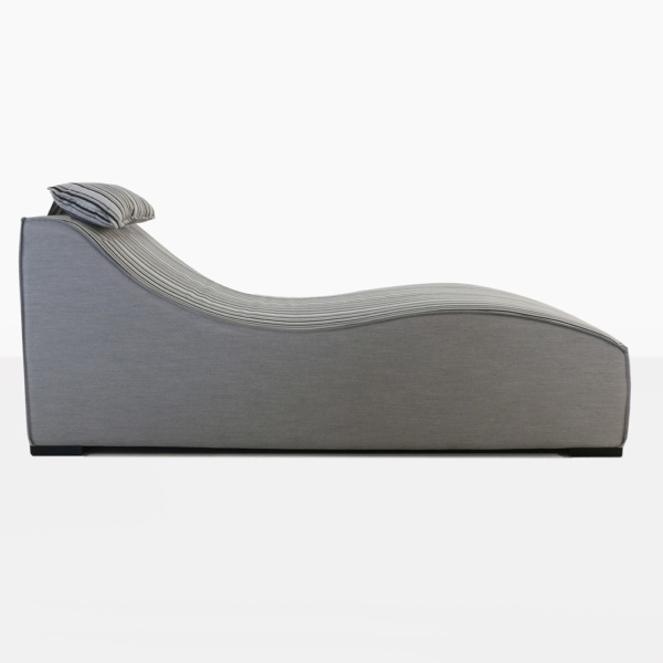 Club 21 Upholstered Sun Lounger Side View