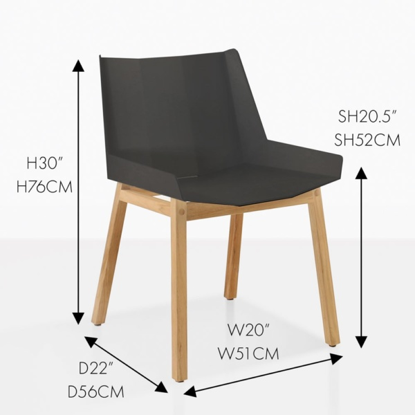 elements side chair charcoal