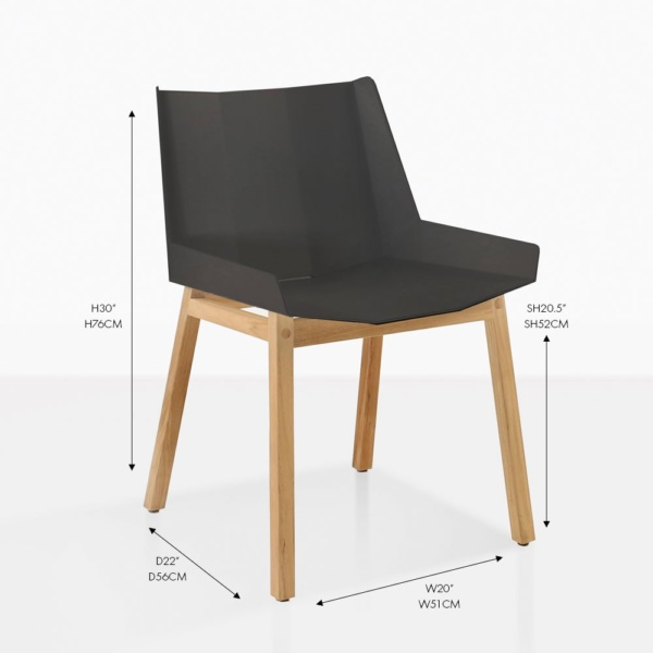 elements black dining chair