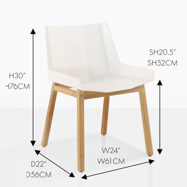 elements white side chair