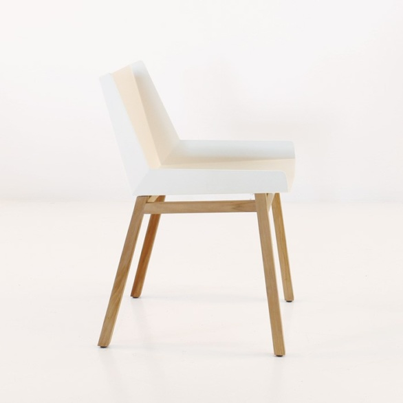elements dining side chair in white side view