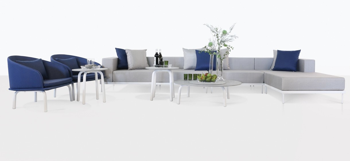 Kobii Outdoor Furniture in white and grey