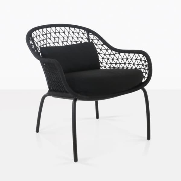 Libby Black Rope Lounge Chair