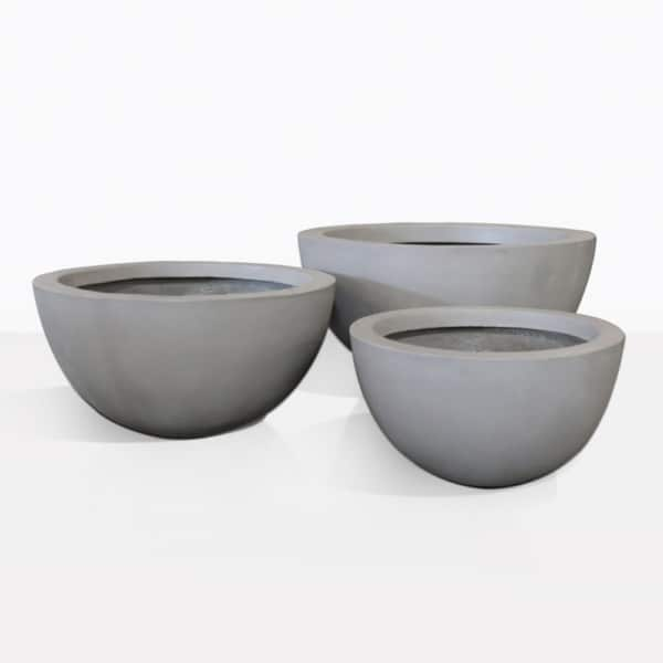 Lindon Raw Concrete Flower Pots