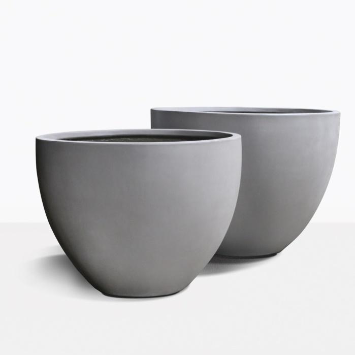 Livingstone Raw Concrete Oval Flower Pot