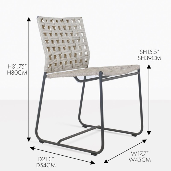 Mayo Natural Wicker Dining Chair