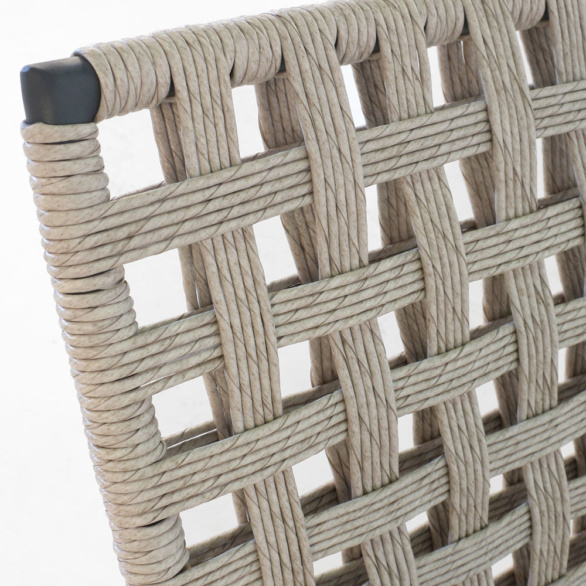 Mayo Natural Wicker Chair Closeup
