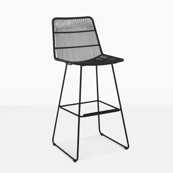 nairobi outdoor wicker bar stool in black