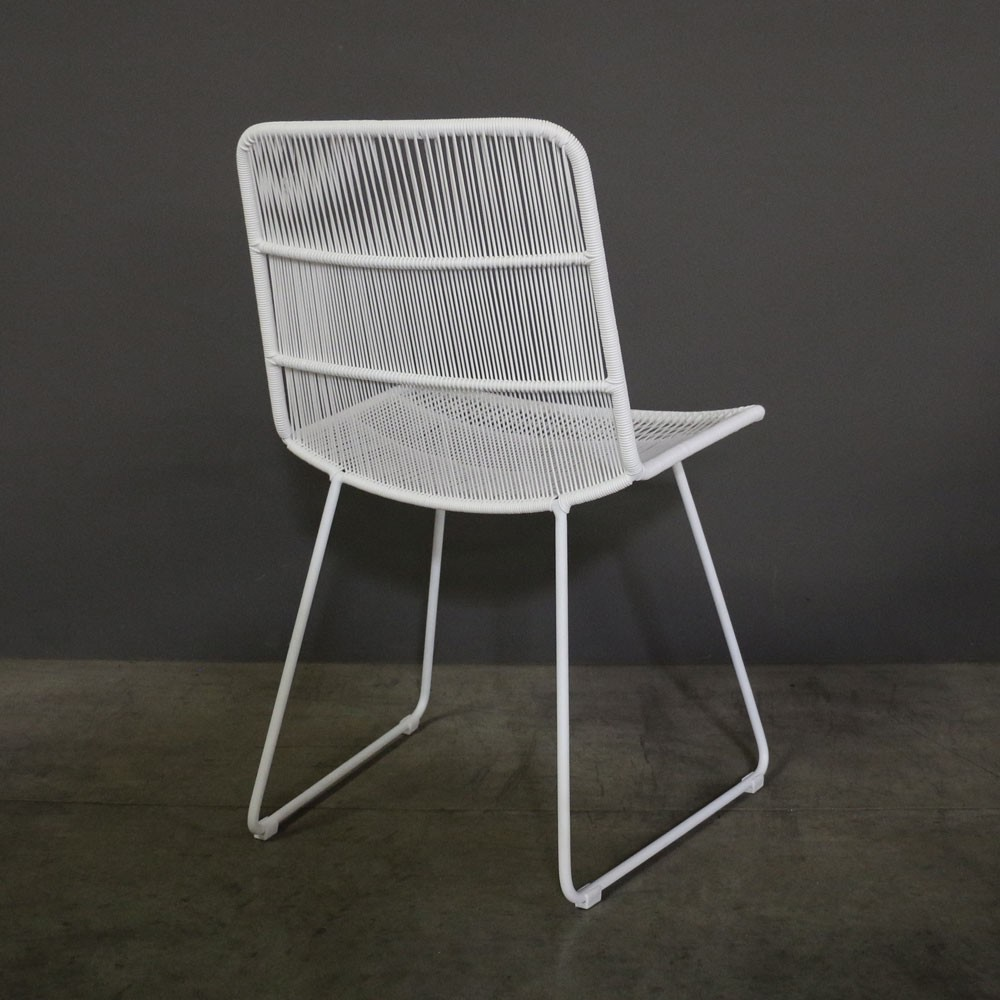 Nairobi Woven Dining Side Chair In White Caf 233 Seating