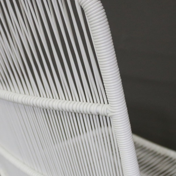 Nairobi White Woven Outdoor Dining Chair