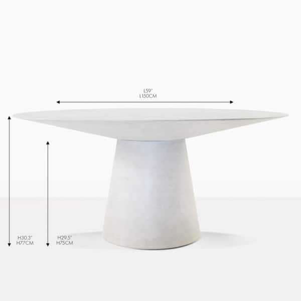 Holly stone round concrete dining table
