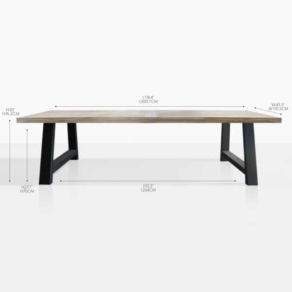 santa fe teak rectangular dining table
