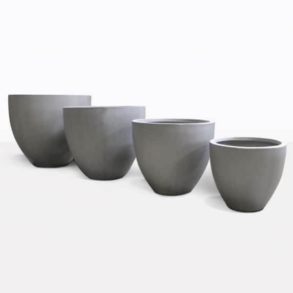 Sienna Raw Concrete Flower Pots