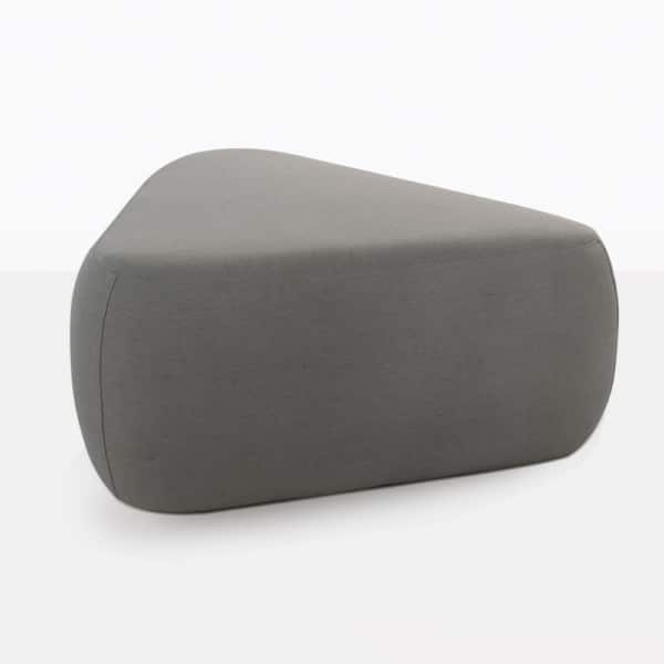 Tibbi Grey Triangular Ottoman