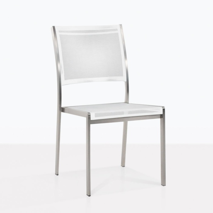 Classic Batyline Mesh White Dining Chair