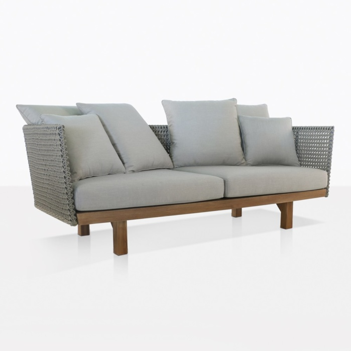 Brazil Rope Adn Teak Outdoor Sofa
