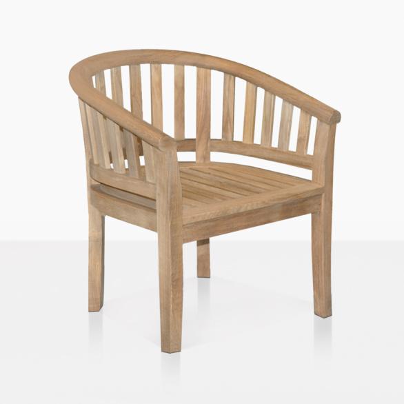 Peanut Teak Tub Dining Chair