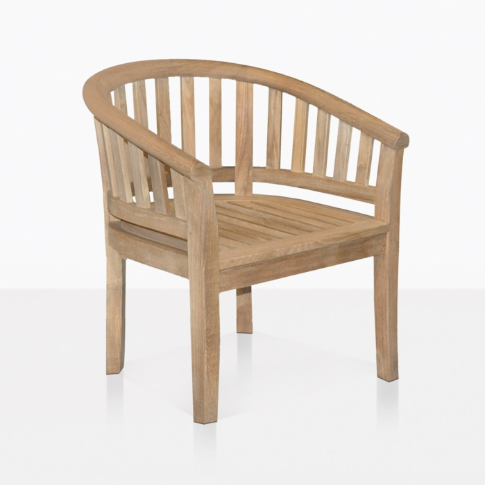 Peanut Teak Tub Dining Chair