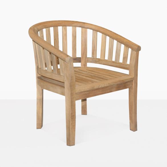 Peanut A-Grade Teak Outdoor Dining Chair