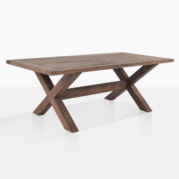 d46df6e825ac Alfresco X-Leg Table (Reclaimed Teak)
