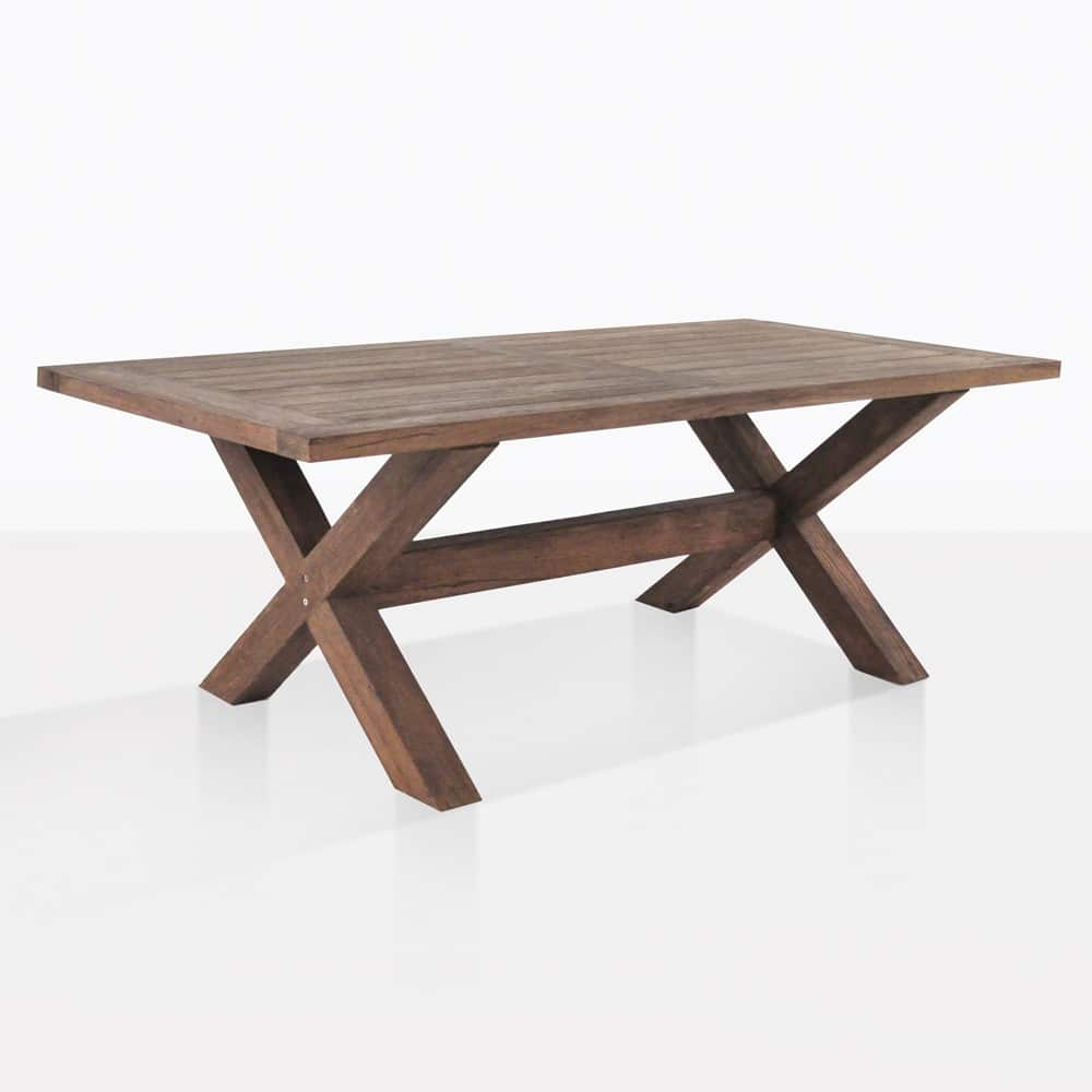 X Leg Outdoor Dining Table