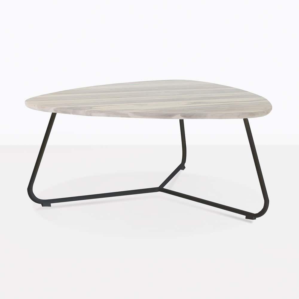 Dark Teak Coffee Table: Billi Outdoor Coffee Table With Black