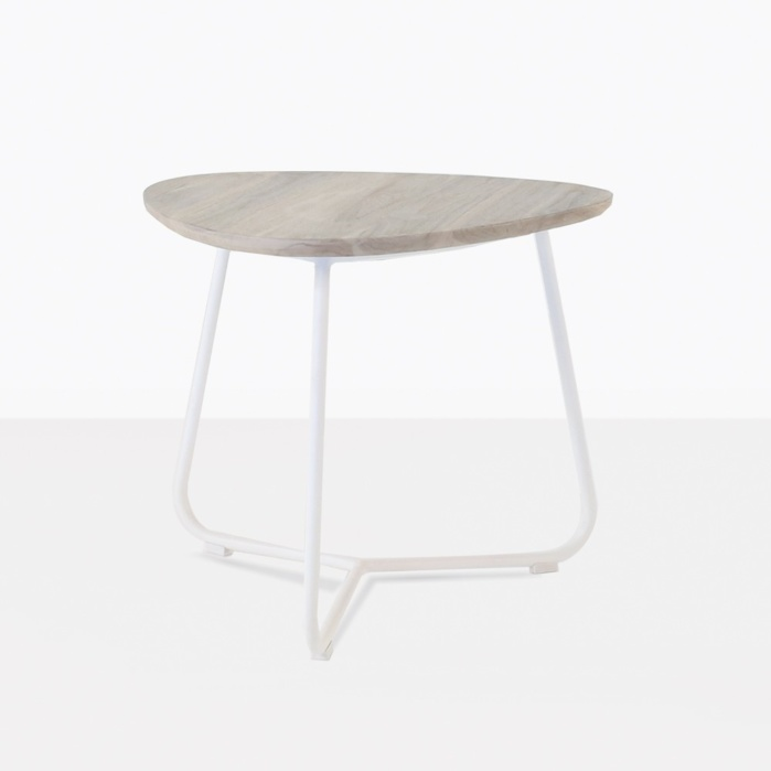 Billi Side Table With White Legs