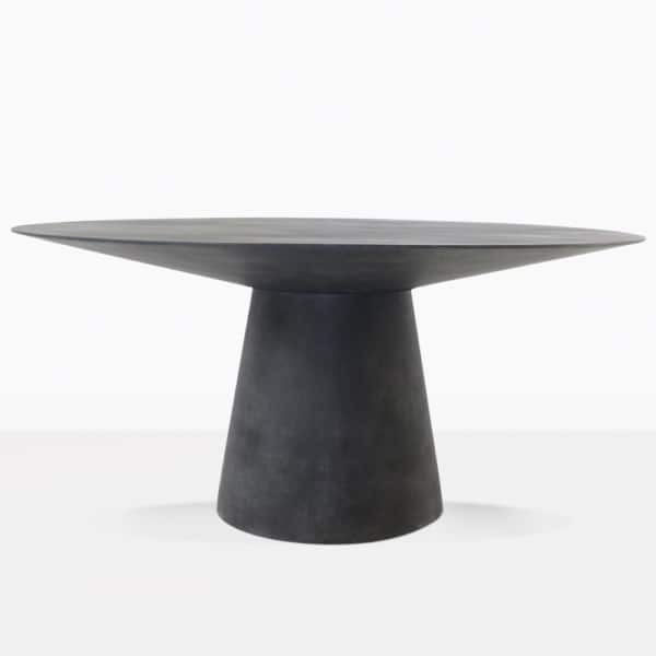 Holly round black outdoor dining table
