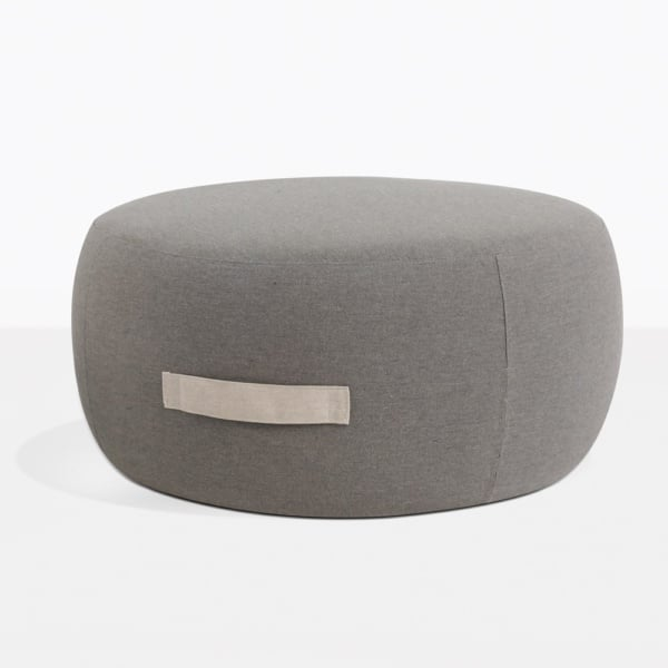Jelli Round Outdoor Ottoman With Handle