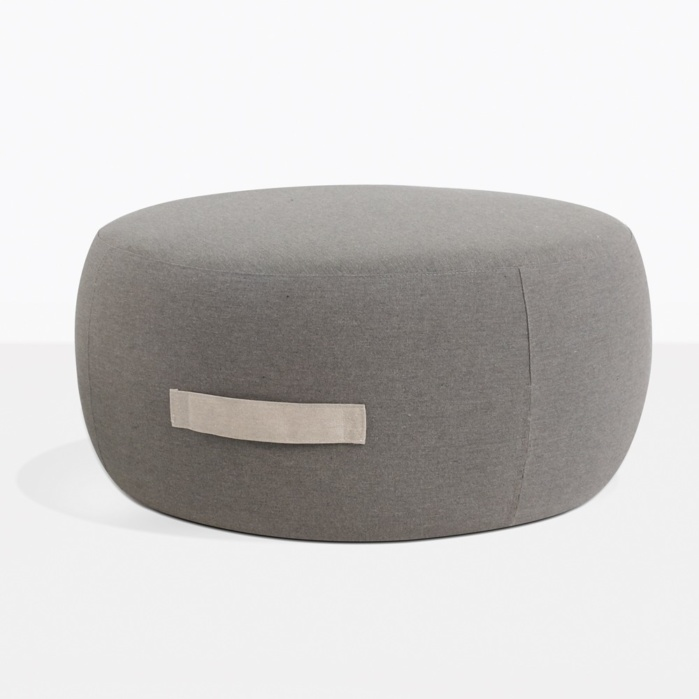 Jelli Round Outdoor Ottoman Granite Patio Seating