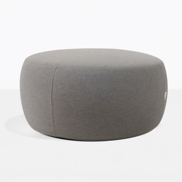 Jelli Round Outdoor Ottoman in Charcoal Grey