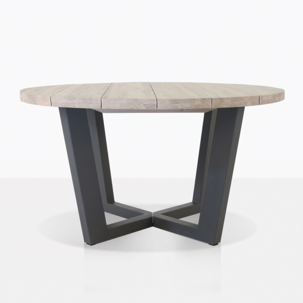 Jimmy Teak and Steel Dining Table