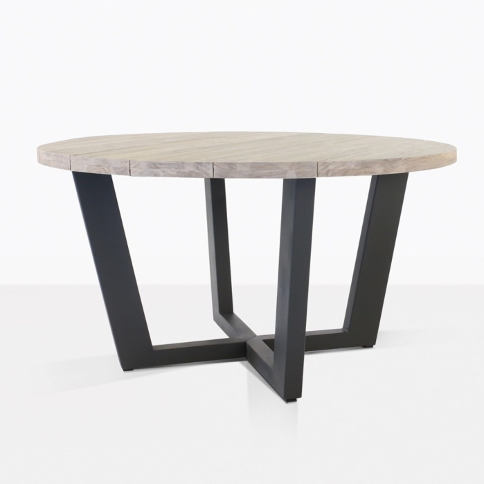 Jimmy Teak and Aluminum Round Dining Table
