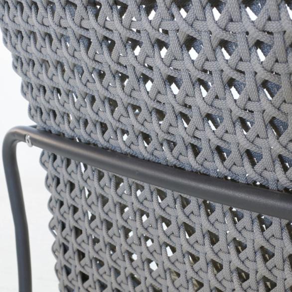 Kelli Rope Dining Chair Closeup