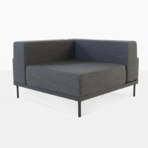 Kobii Outdoor Sectional Corner Chair in Grey