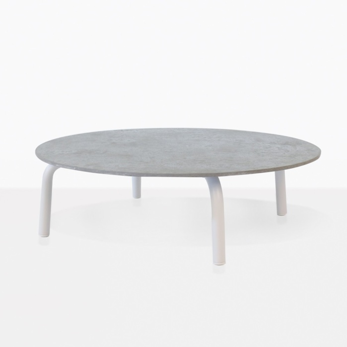 Kobii Outdoor Coffee Table with white legs