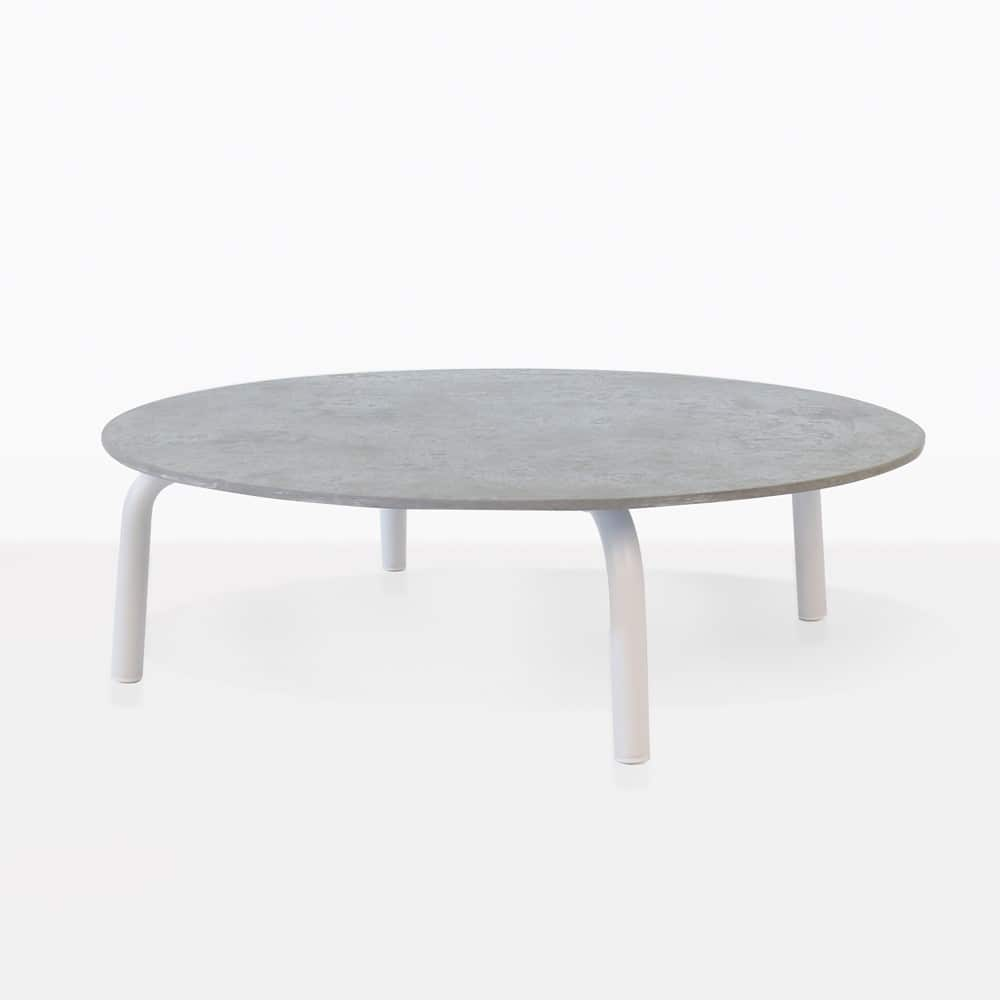 Kobii Aluminum Round Coffee Table | Outdoor Furniture ...