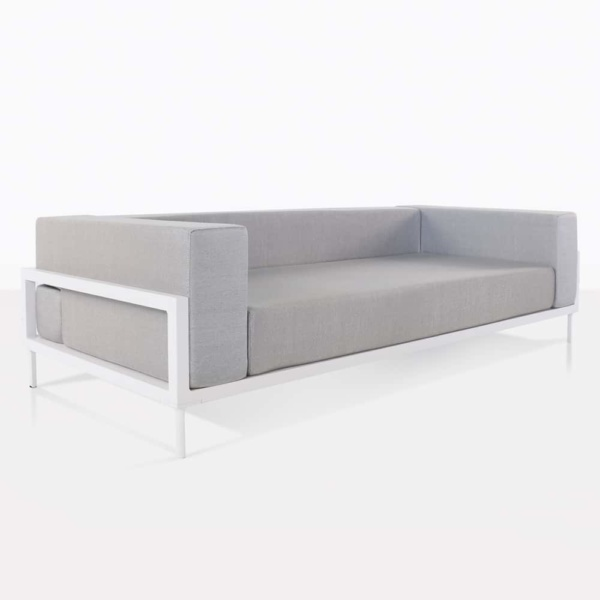 Kobii Grey and White Outdoor Sofa