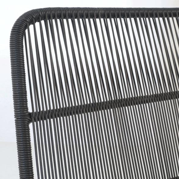 Nairobi Black Woven Chair Closeup