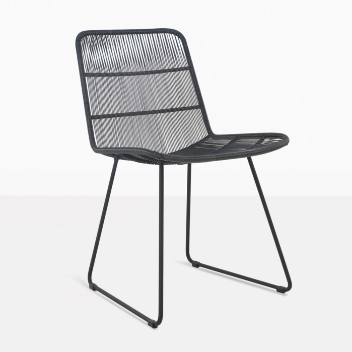Nairobi woven black dining side chair outdoor wicker