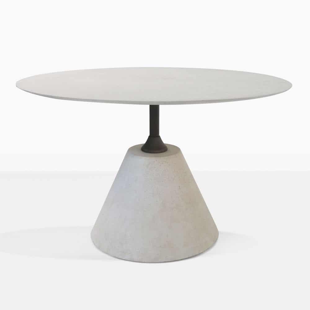 concrete outdoor dining table. Cee Concrete \u0026 Steel Outdoor Dining Table (Grey)