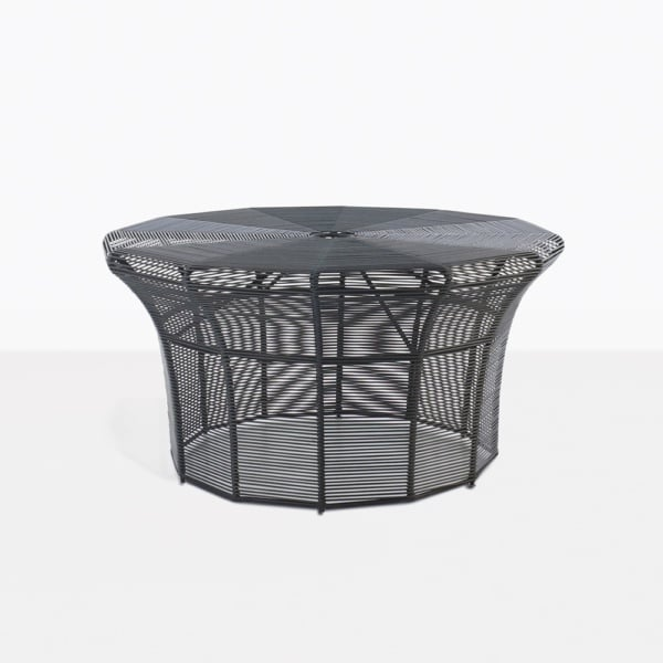 Poppi Black Wicker Round Coffee Table