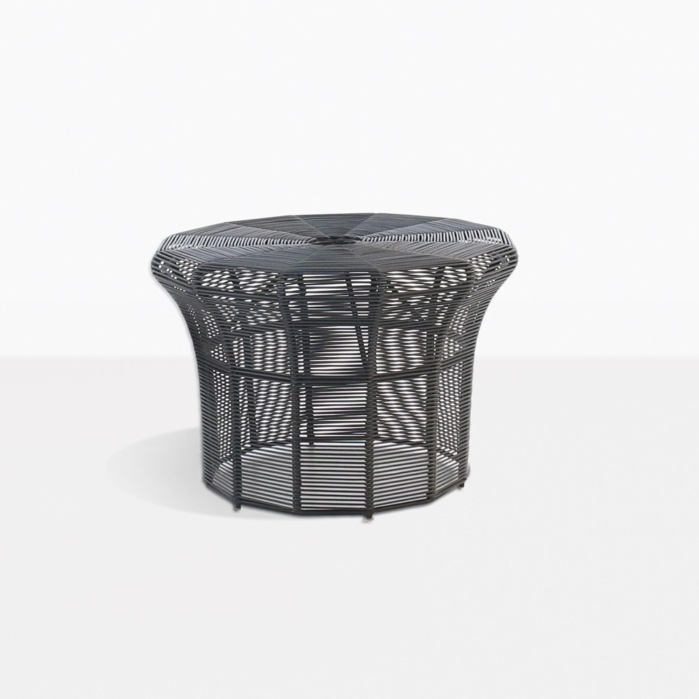 Poppi Small Outdoor Side Table In Black Patio Furniture