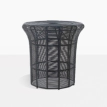 Poppi Tall Black Wicker Side Table