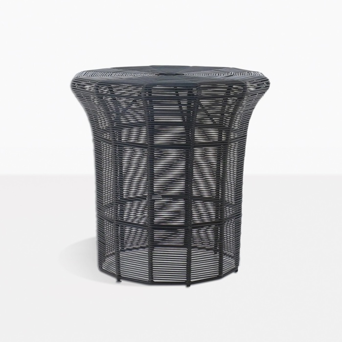 Poppi Outdoor Side Table Tall Black Teak Warehouse